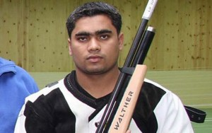 Bangladeshi shooter Baki in qualification round at Rio Games