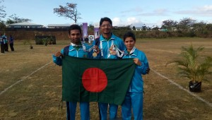Bangladeshi Archer Tamim wins Gold Medal in 5th Commonwealth Youth Games, Samoa 2015